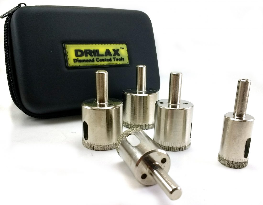 Drilax Precision Diamond Tools Diamond Dust Hole Saw For Tile - 5 inch tile hole saw