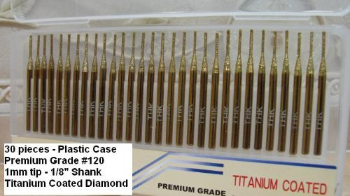 Drilax 10 Pcs 1//8 inch Diamond Drill Bit Hole Saw Core Coated Sea Glass 3mm