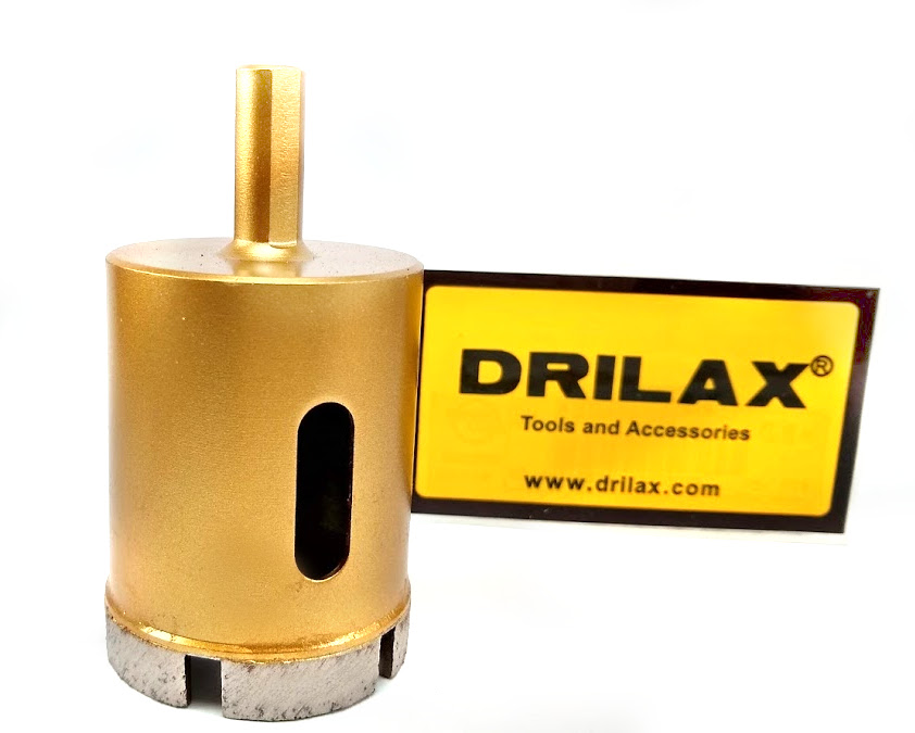 Drilax 1 3 4 Inch Diamond Hole Saw Drill Bit Marble Concrete Stone Tile Brick Granite Countertop Ceramic Porcelain Bits Holesaw Diy Shower